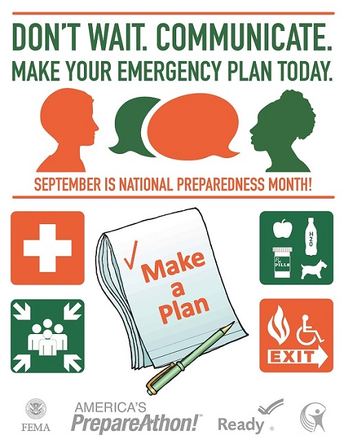 Dont't wait. Communicate. Make your emergency plan today.